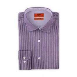 Steven Land Purple Pin Stripe Slim Fit Dress Shirt SB1941