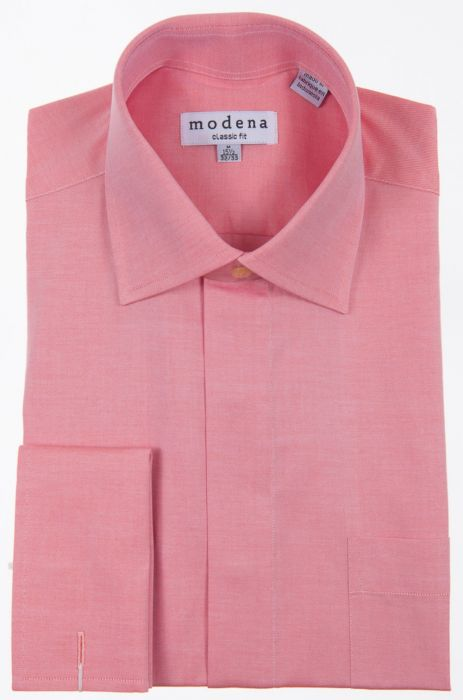 release info on shop for luxury newest Modena Coral Twill French Cuff Dress Shirt M389PA0F