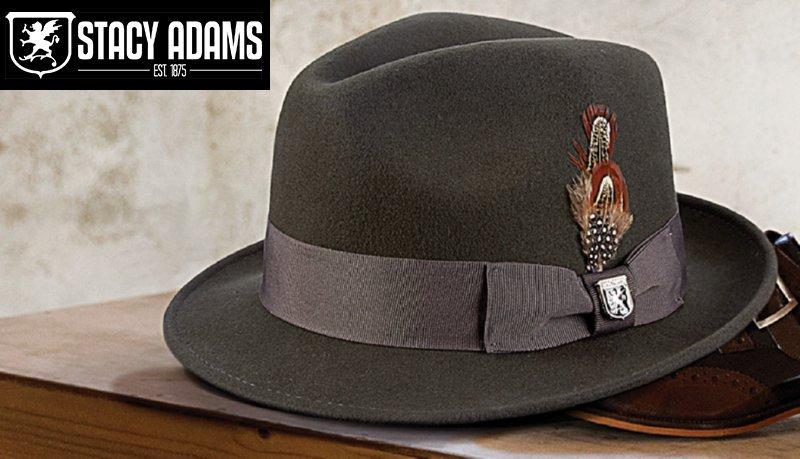a41a1ce8f Stacy Adams Mens Hats - Fedoras - Straw Hats - On Sale